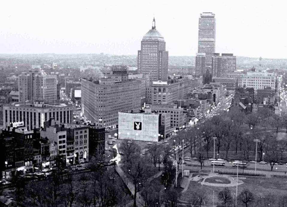 12/9/1968 -- Boston, MA: A view of the Playboy Club of Boston in Park Square.